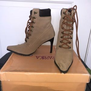 Shoes - Combat boots heels size 7